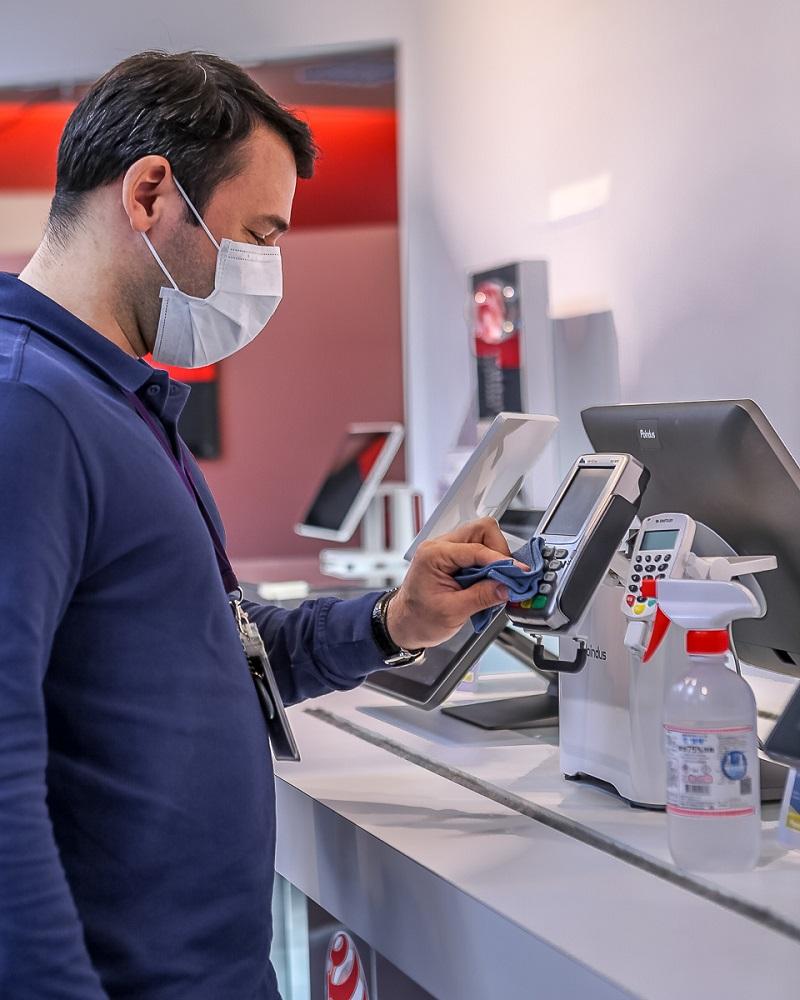 Cleaning VariPOS for Virus Risk